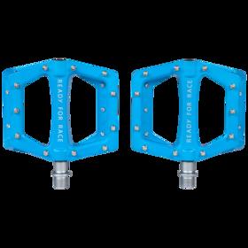 Cube RFR Flat Race Pedals blue